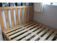 """Double Bed 4'6"""" Pine"""