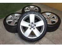 "Genuine VW Monte Carlo 17"" Alloy wheels & Winter Tyres 5x112 Passat Golf MK5 MK6 Caddy T4 Audi"