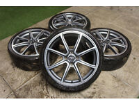 "Genuine FOX FX2 18"" Alloy wheels & Tyres 4x108 Ford Focus MK1 Fiesta Escort"