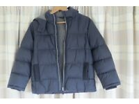 Marks and Spencer Navy Padded Fleece Lined Jacket Age 9-10yrs