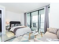 BEAUTIFUL LUXURY STUDIO SUITE IN DOLLAY BAY POINT, CANARY WHARF E14. VACANT & BRAND NEW! 10TH FLOOR