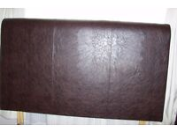Selling Next Brown Faux Leather Headboard (King Size)