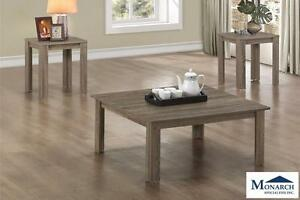 Dark Taupe Square 3PC Table Set