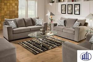 Venture Smoke Sofa & Loveseat Set!