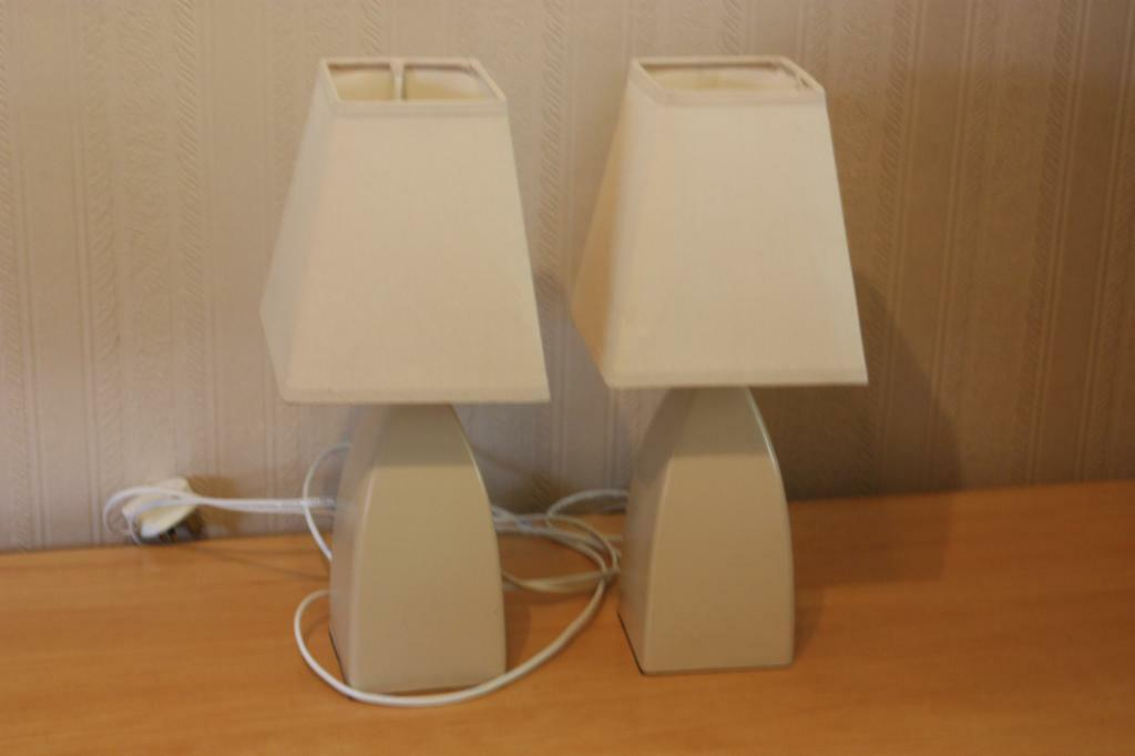 2x Bedside Lamps Touch Activated