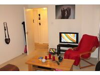 Double room in flat-share with 2 others available from now.
