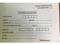 Solicitors accounting slips