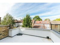 Brand new split level with roof terrace and patio