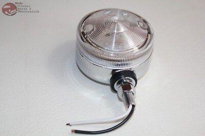 "3"" Amber LED Utility Light Clear Lens Fender Body Mount Hot Rod Truck Offroad"