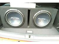 """12"""" PIONEER CHAMPION SERIES TWIN CAR 4 OHM VOICE COIL SUBWOOFER"""
