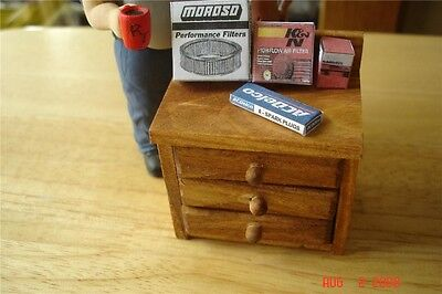 Workbench, Cabinet , Table - 3 Drawer -1/18 Diorama & (3 Drawer Cabinet Workbench)