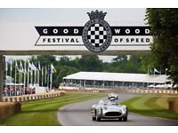 Goodwood Festival Of Speed FOS 2017 4 days admission for 2 Adults