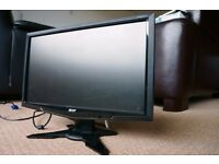 ACER G195HQV 18.5inch with stand and cables.