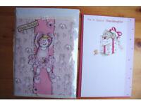 2 unused girls' birthday cards. 1 Granddaughter; 1 general, ballet dancer design