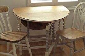 Upcycled vintage dining table and chairs