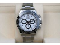 Rolex Cosmograph Daytona Ceramic Steel White Dial 116500