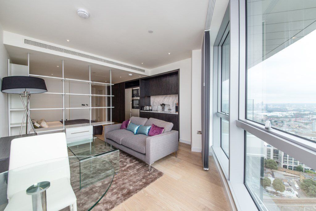 33RD FLOOR LUXURY STUDIO SUITE IN PROVIDENCE TOWER AVAILABLE NOW! DESIGNER FURNISHED, CANARY WHARF