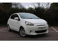 MITSUBISHI MIRAGE 1.2 3 5dr **1 OWNER++�0 TAX PER YEAR++UP TO 65 MPG** (white) 2013