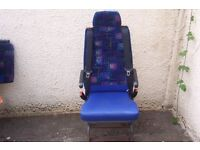 VAN SEATS FOLD AWAY WITH SEAT BELTS - THREE SEATS IN TOTAL