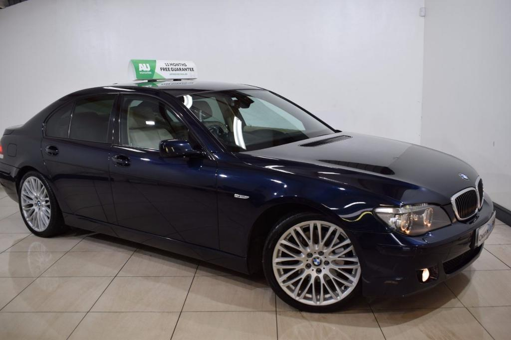 BMW 7 SERIES 3.0 730D SPORT 4d AUTO 228 BHP (blue) 2008