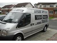 Van and man from 15 pound ** sofas beds washing machines fridges removals