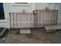 Wrought Iron Gates (pair) ready for refurb