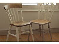 Upcycled vintage dining table and chair