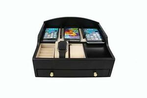 Decorebay wood charging station for smartphones and Apple watch (Black)