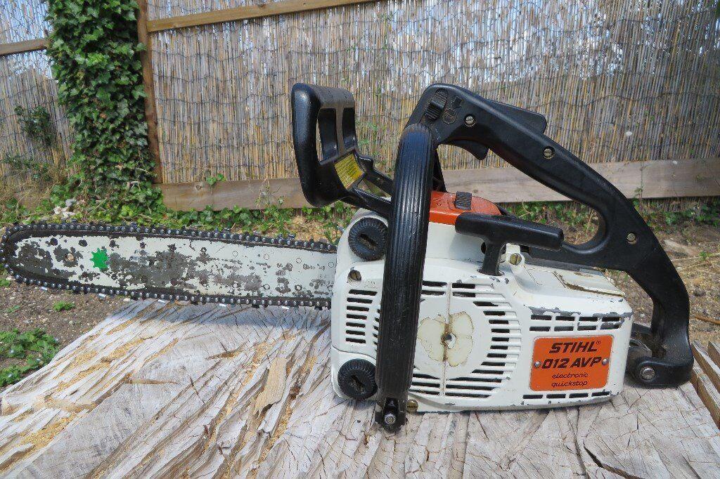 Stihl 012AVP chainsaw, top handle, 45cc, 16