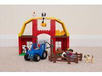 COMPLETE DUPLO LEGO BIG FARM TRACTOR ANIMALS FIGURES BARN DAIRY SET 5649