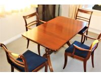 Dining table and 4 chairs machogany