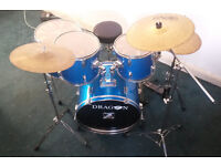 Dragon whole drumset with cymbals