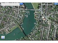 Boat mooring available on pontoon river Itchen.