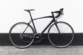 Racing specialized allez sport full black and shimano sora parts