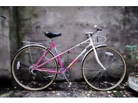 APOLLO CALYPSO, vintage ladies women's mixte frame road bike, 19.5 inch, 5 speed