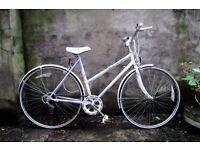 RALEIGH LULU, 20 inch, vintage ladies womens hybrid road bike, mixte frame, 5 speed, mudguards
