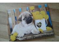 Canvas print pug puppy