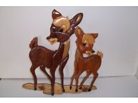 bambi figures-solid wood....and ex con...xmas