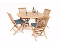 Biarritz 4 Seater Teak Garden Furniture Set x 2