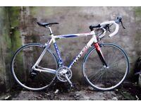 CLAUD BUTLER ELITE. 22 inch, 56 cm.Alloy racer racing road bike, carbon fork, 14 speed