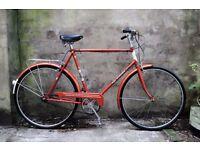 PUCH ELEGANCE, 23 inch, 58 cm, vintage gents dutch traditional road bike, 3 speed, pristine