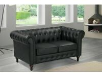 🔵💖🔴TOP QUALITY🔵💖🔴 CHESTERFIELD PU LEATHER SOFA 2 SEATER-CASH ON DELIVERY-Order Now