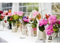 99 hand decorated glass flower jars