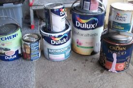 half used tins of paint various colours and types free