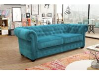 50% REDUCTION ON OUR IMPERIAL CHESTERFIELD SOFAS... CORNERS, 3+2 SETS, ARM CHAIRS, SOFA BEDS*