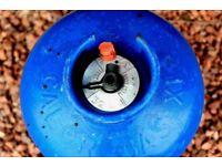 Full Calor gas butane bottle for camping caravan BBQ 15 kg.