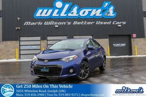 2014 Toyota Corolla S LEATHER! NAVIGATION! SUNROOF! HEATED SEATS