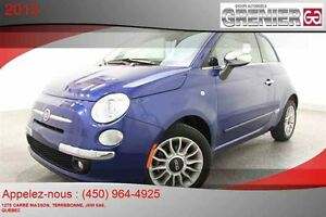 2013 Fiat 500 Lounge DÉCAPOTABLE *MAGS + CUIR + CRUISE CONTROL*
