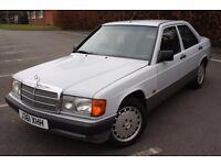 1991 MERCEDES BENZ 190E AUTO, 4 DOORS, LEATHER INTERIOR, CLASSIC,12 MONTHS MOT, FANTASTIC CONDITION