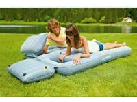 blowup double bed and pump